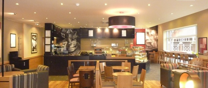 Costa Coffee, Lincoln interior