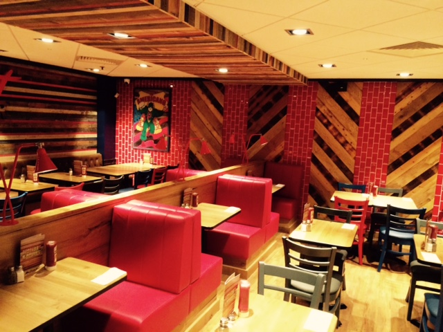 Pizza hut at marble arch gets a full interior re fit